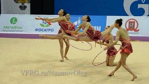 Bulgarian group rhythmic gymnastics team prevails over Russia in