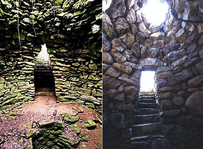 Das Brunnenheiligtum bei Garlo und ein ähnliches Bauwerk auf Sardinien