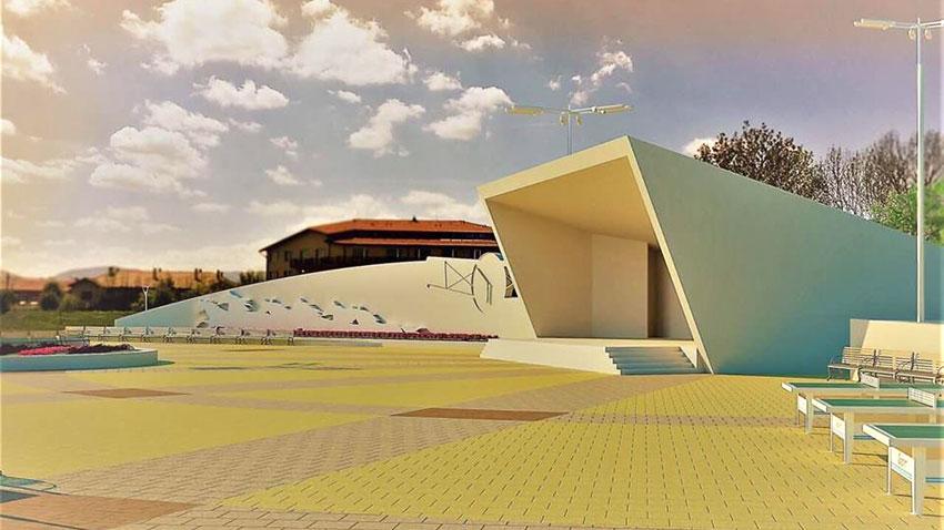 Проектът за центъра на Божурище предвижда и концертна сцена