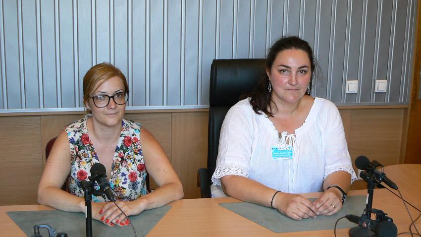Адвокат Милена Стоянова и Петя Векова в студиото на предаването (отляво надясно).