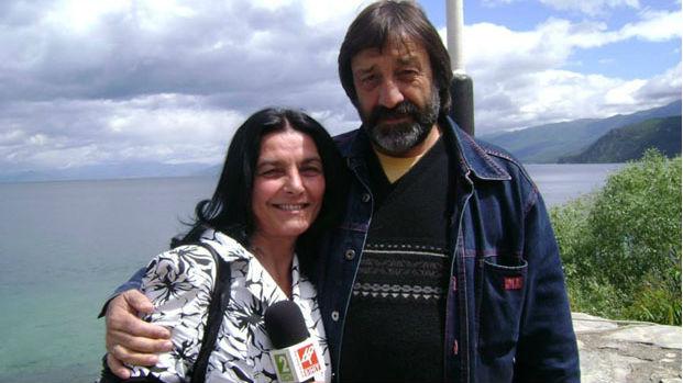 Юлия Караджова със съпруга си - дългогодишния оператор в РТВЦ-Благоевград Александър Караджов