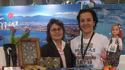 Edirne Tanıtım ve Turizm Derneğinden Neslihan Çakır(sağda).
