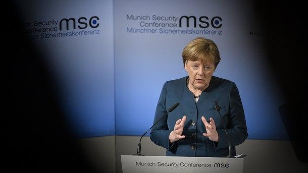 Ангела Меркел на конференцията по сигурността в Мюнхен