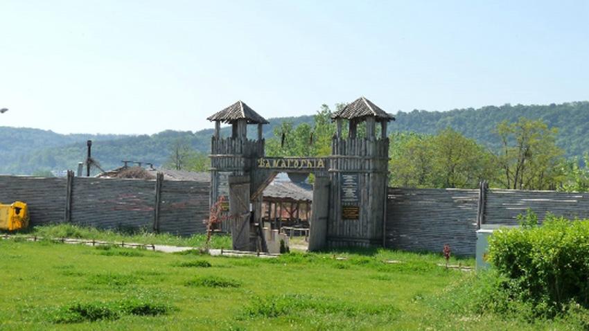 Възстановка на прабългарското селище Фанагория / Снимка: архив