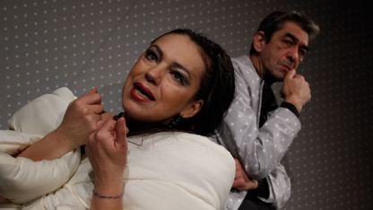 Станка Калчева и Анастас Попдимитров в спектакъла