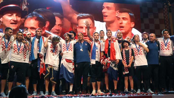 Хърватите бяха посрещнати като герои в Загреб
