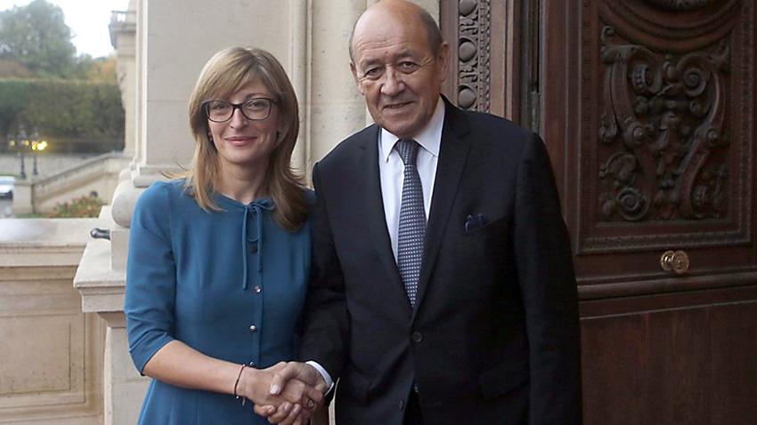 Франция смята, че българското председателство на ЕС ще е изключително важно, заяви Жан-Ив льо Дриан на разговорите с Екатерина Захариева.