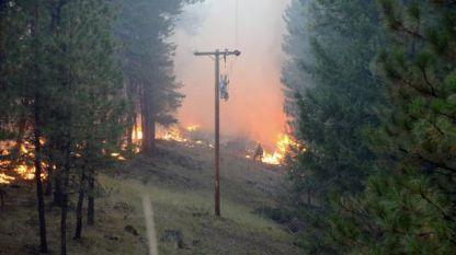 Пожар в Орегон