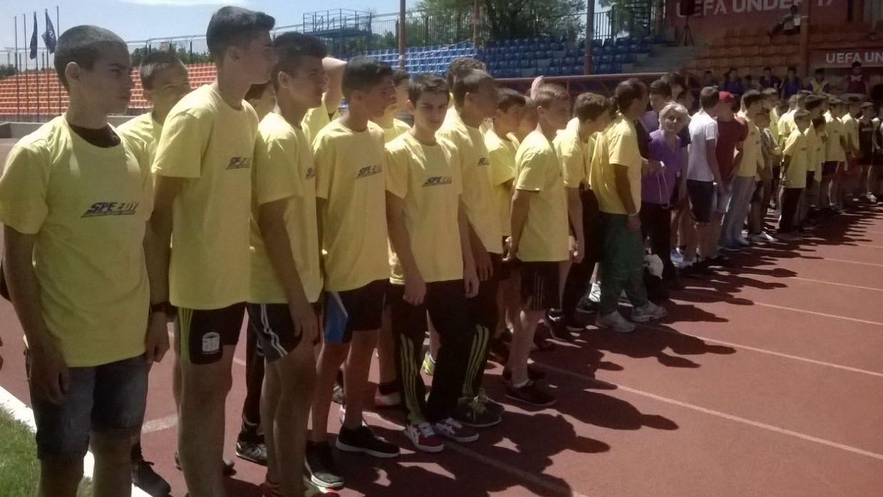 Отборът по лека атлетика на ОУ Иван Вазов Видин