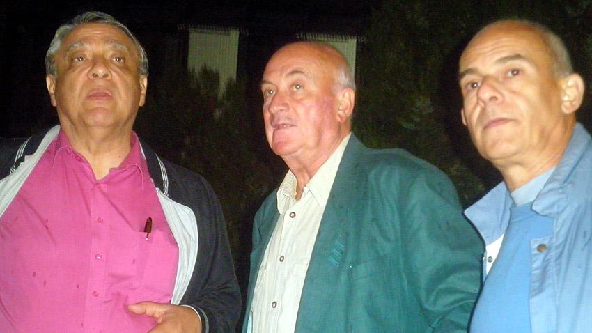 "Д-р Емил Илиев, директор на ""Банско джаз фест"", Тома Спространов, Кристиян Бояджиев (отляво надясно)"