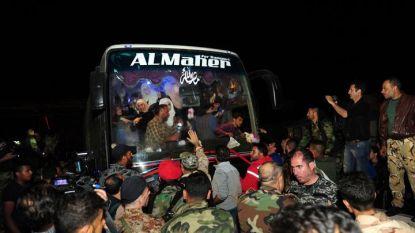 Автобус с евакуирани цивилни от Дума пристига в Дамаск