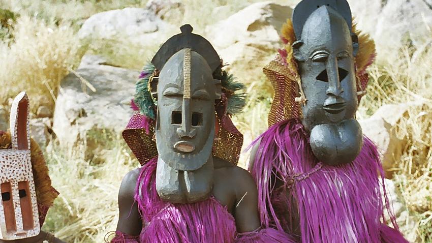 Мъже от племето Догон в ритуални маски