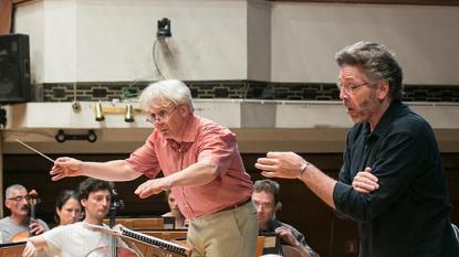 Маестро Павел Балев и Томас Хемпсън репетират със Софийската филхармония