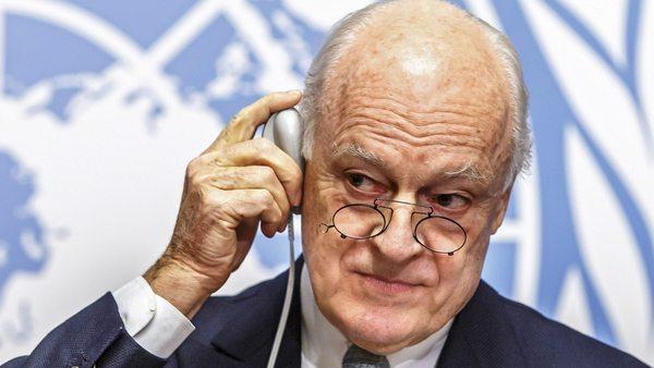 Специалният пратеник на ООН за Сирия Стафан де Мистура