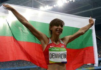 Hochspringerin Mirela Demirewa holte eine der nur drei Medaillen für Bulgarien.