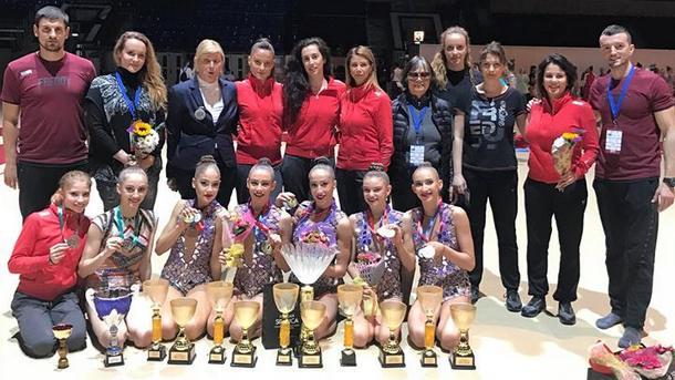 Със 7 медала се прибраха българските гимнастички от първия за
