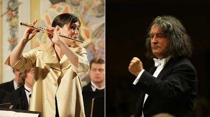 Магали Моние (флейта) и  Хория Андрееску