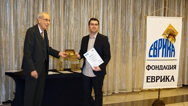 Атанас Курутос, носител на наградата Еврика за постижения в науката