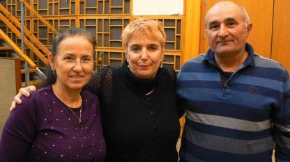 Ани Стаменова, Веселина Даковска и Ангел Стаменов (отляво надясно).