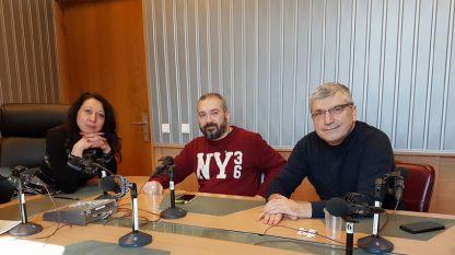 """Николета Атанасова, Виктор Лилов и Илиян Василев (отляво надясно) в студиото на програма """"Христо Ботев""""."""