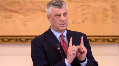 Президентът на Косово Хашим Тачи