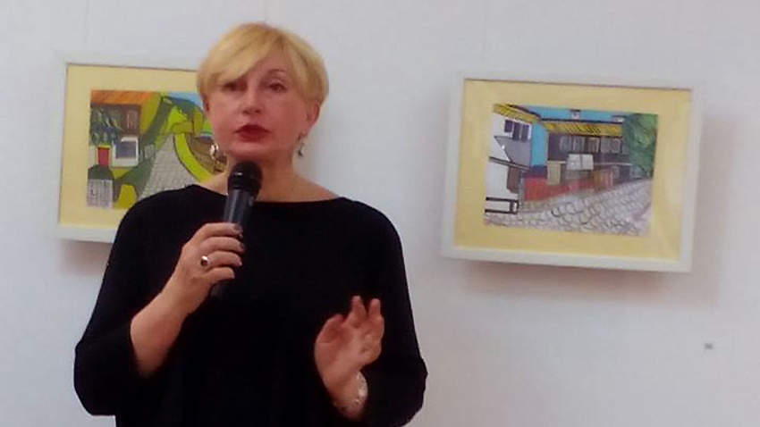 """Ирина Степановска на премиерата в """"София-прес"""""""