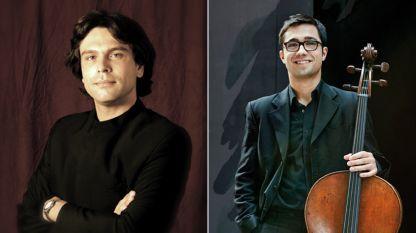 Диригентът Петко Димитров (вляво) и виолончелистът Михаил Петров
