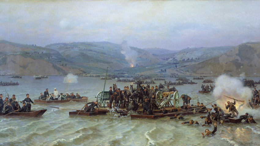 """""""Russische Überquerung der Donau"""" von Nikolai Dmitrijew-Orenburgski"""