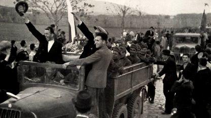 April 1941: Bulgarische Truppen ziehen in Vardar-Mazedonien ein
