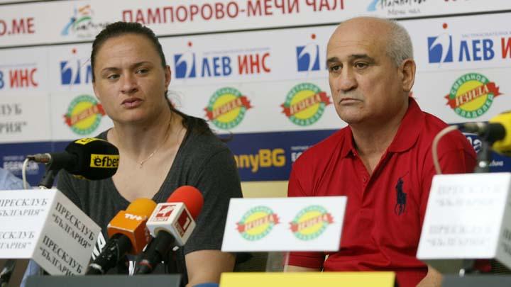 Оряшкова и Юсев по време на пресконференцията