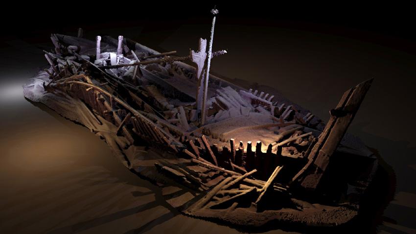 Фотограметричен модел на корабокрушение от османската епоха.