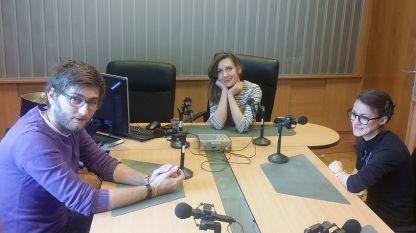 Цветомир Павлов, Калина Станева и Мила Иванова (отляво надясно) в студиото на предаването