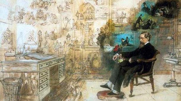 """""""Мечтите на Дикенс"""", Робърт Уилиям Бъс, 1875 г."""