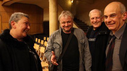 Даниела Кузманова, Румен Бояджиев, Деян Тимнев и Кристиян Бояджиев (отляво надясно), 2015 г.