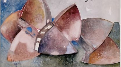 Фрагмент от изложбата на Вежди Рашидов