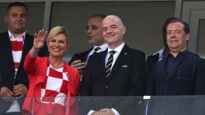 Грабар-Китарович заедно с президента на ФИФА Инфантино и премиера на Русия Медведев