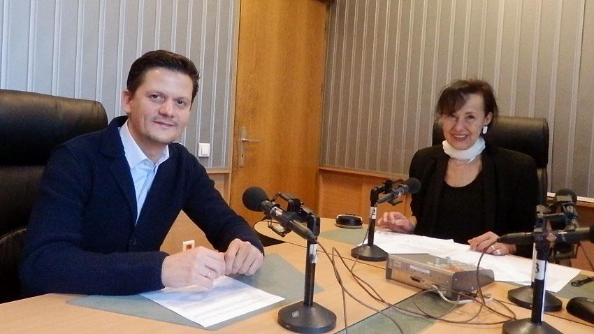 Димитър Маргаритов и Светла Милчева в студиото на програма