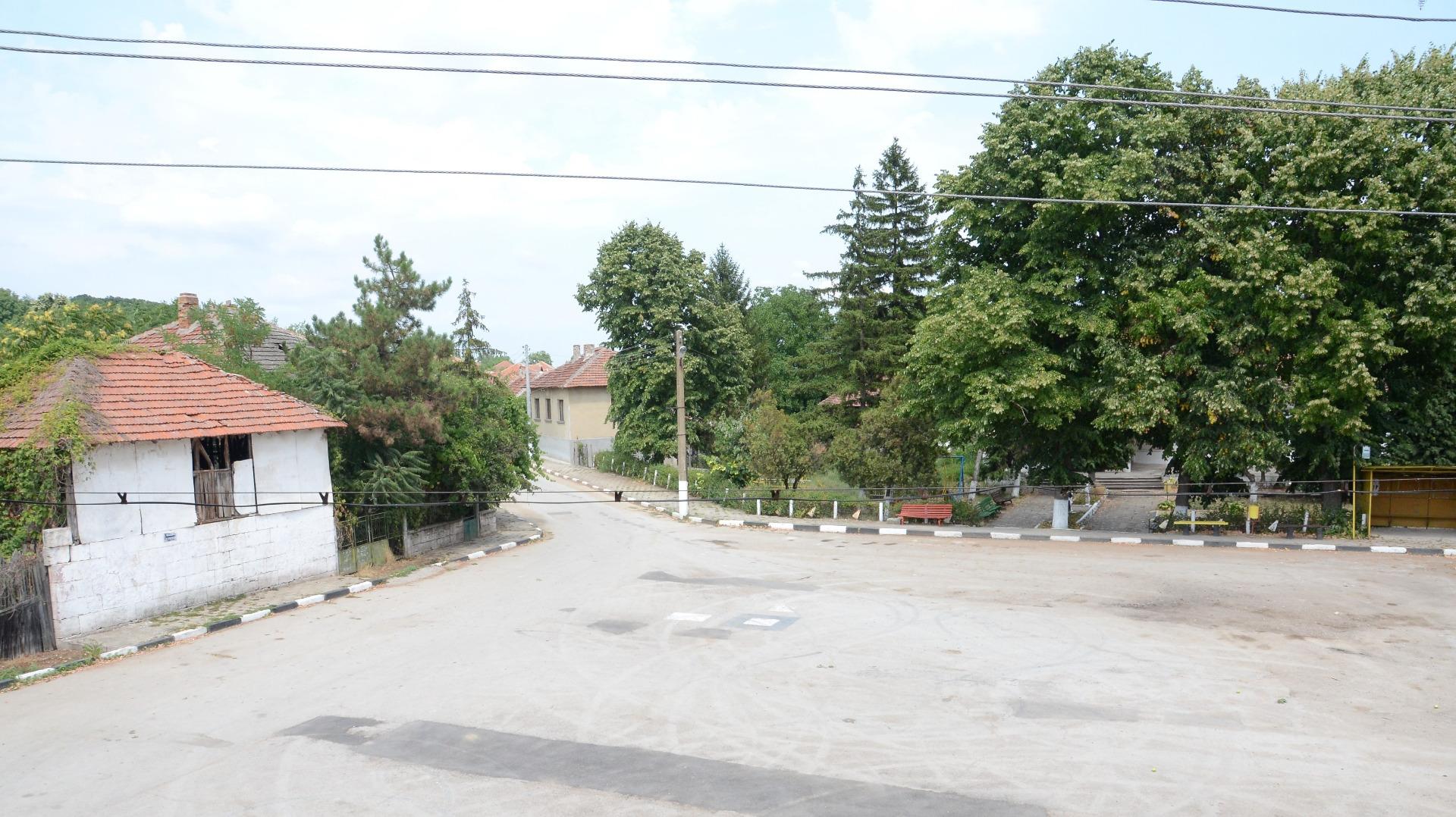 Центърът на село Делейна.