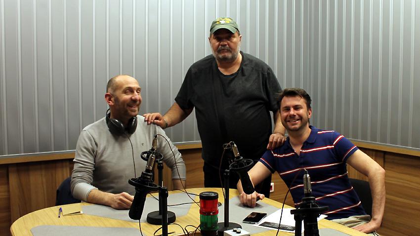 """Андрея Брунело, Александър Михайлов и Димитър Узунов (отляво надясно) в студиото на програма """"Христо Ботев""""."""