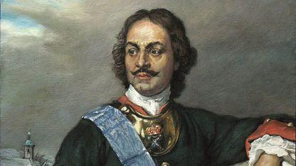 Детайл от портрета на първия руски император Петър Първи, худ. Пол Деларош