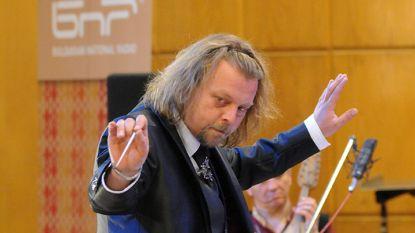 Димитър Христов - диригент на Оркестъра за народна музика на БНР