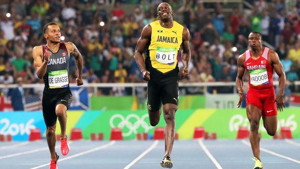 Юсейн Болт на финал в бягането на 200 метра