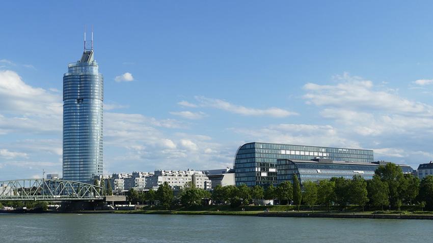 Изглед от Виена, Австрия.