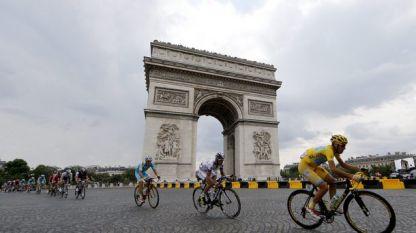 """""""Тур дьо Франс""""  няма да завърши на 19 юли край Триумфалната арка в Париж."""