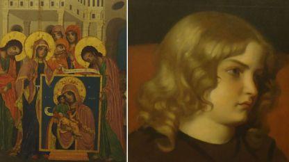 Zograf Damaskin nga Elena – Shën Luka paraqes ikonën e Shën Hyjlindëses dhe Nikollaj Pavlloviç – Portret i djalit