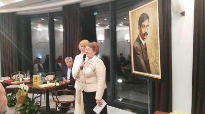 Людмила Снитенко, Елка Няголова и директорът на Българския културно-информационен център Христо Славов (отдясно наляво) на премиерата на книгата.