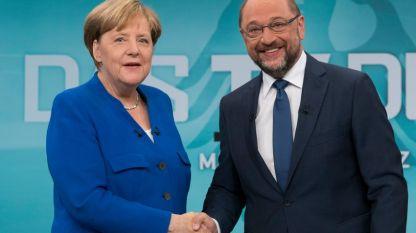 Ангела Меркел и Мартин Шулц
