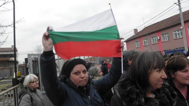 Протест на бивши работнички в закритата фирма