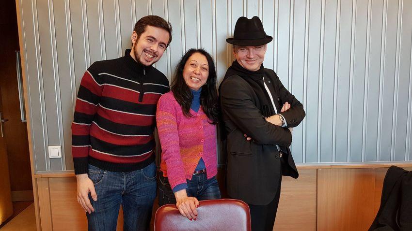 Александър Детев, Николета Атанасова и Любомир Аламанов в студиото на