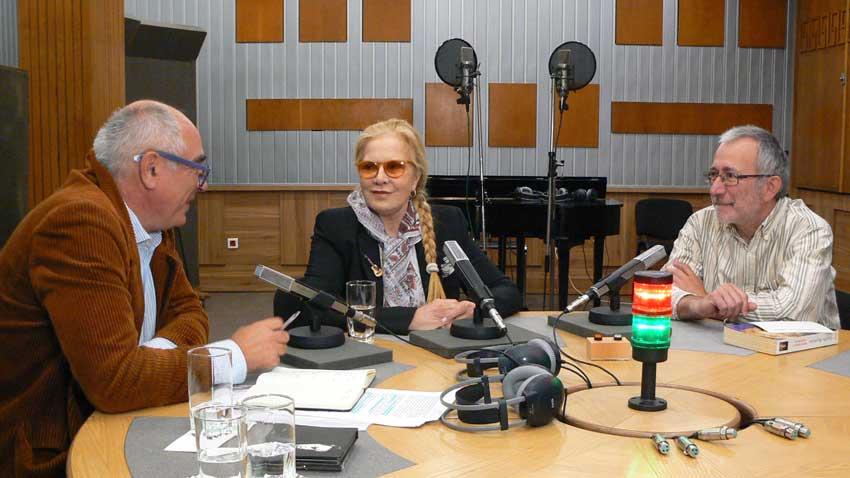 Кирил Калев, Силви Вартан и Людмил Фотев в Пето студио на БНР